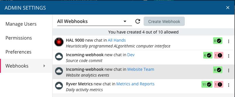 API: Incoming Webhooks - Ryver Support